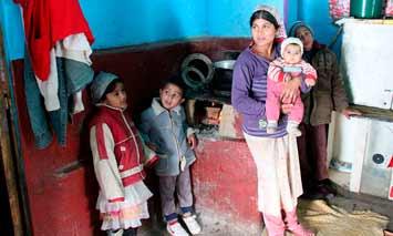 Arme Familie in Rumänien
