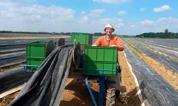 Mann bei landwirtschaftlicher Arbeit